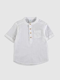 Hakim Yaka Kısa Kollu Basic Erkek Bebek Gömlek