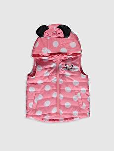 Kız Bebek Minnie Mouse Baskılı Şişme Yelek