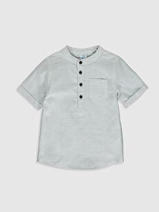 Gri Erkek Bebek Hakim Yaka Gömlek