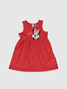 Kız Bebek Minnie Mouse Baskılı Elbise