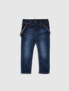Erkek Bebek Slım Fıt Jean Pantolon ve Pantolon Askısı