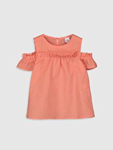 Kız Bebek Basic Poplin Bluz