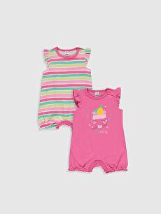 Kız Bebek Desenli Tulum 2'li