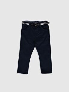 Erkek Bebek Slım Fıt Gabardin Pantolon ve Kemer