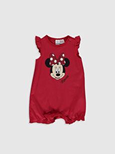 Kız Bebek Minnie Mouse Baskılı Tulum