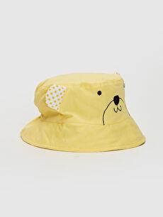 Erkek Bebek Desenli Kova Şapka