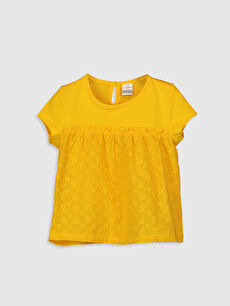 Sarı Kız Bebek Basic Pamuklu Tişört