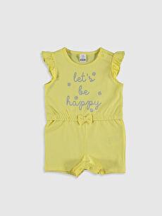 Kız Bebek Baskılı Tulum