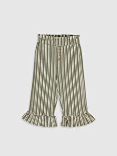 Kız Bebek Çizgili Pantolon