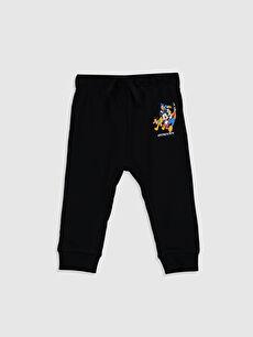 Erkek Bebek Mickey Mouse Baskılı Pantolon
