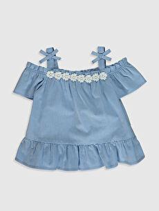 Mavi Kız Bebek Bluz