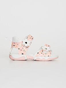 Kız Bebek Cırt Cırtlı Şık Sandalet