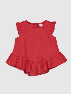 Kız Bebek Fırfırlı Bluz