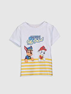 Erkek Bebek Paw Patrol Baskılı Tişört