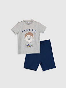 Erkek Bebek Tişört Ve Şort 2'Li