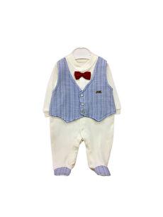 By Leyal For Kids Erkek Bebek Pamuklu Patikli Tulum