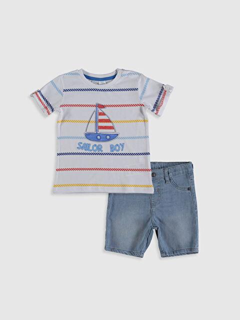 Erkek Bebek Baskılı Tişört ve Jean Pantolon - LC WAIKIKI