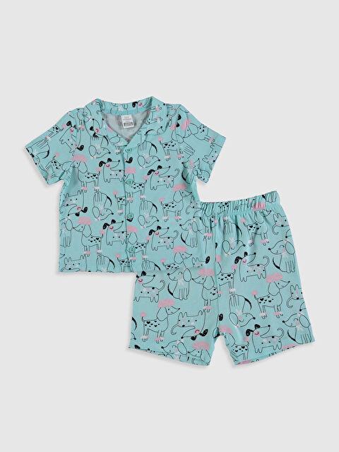 Kız Bebek Baskılı Viskon Pijama Takımı - LC WAIKIKI