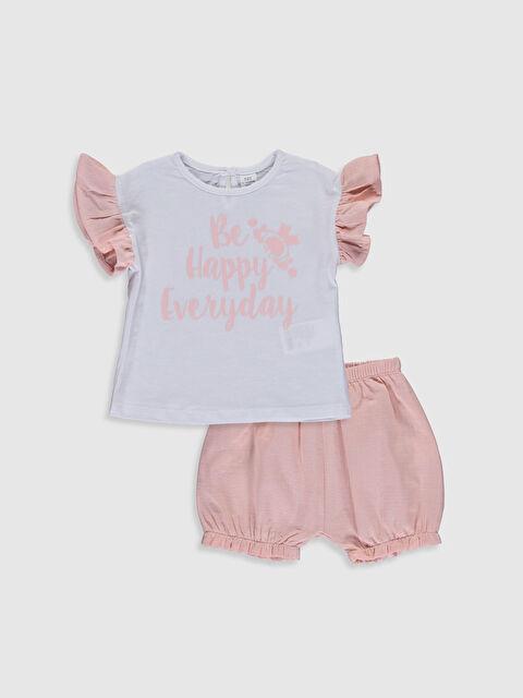 Kız Bebek Pamuklu Tişört ve Şort - LC WAIKIKI