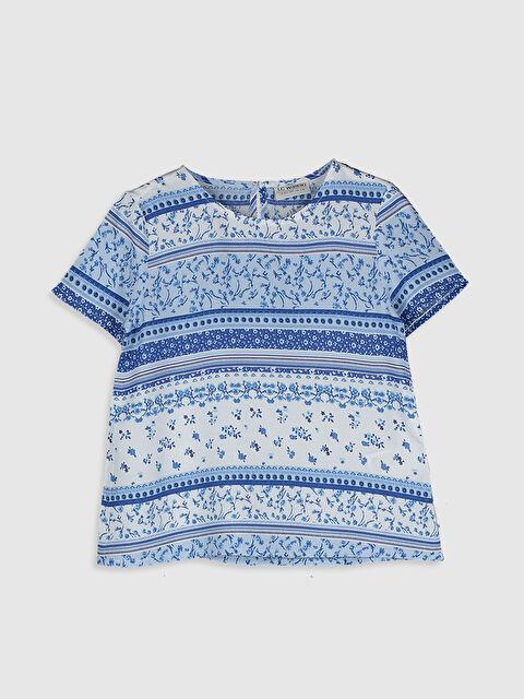 Kız Çocuk Desenli Viskon Bluz - LC WAIKIKI