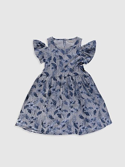 Aile Koleksiyonu Kız Çocuk Omuzu Açık Pamuklu Elbise - LC WAIKIKI