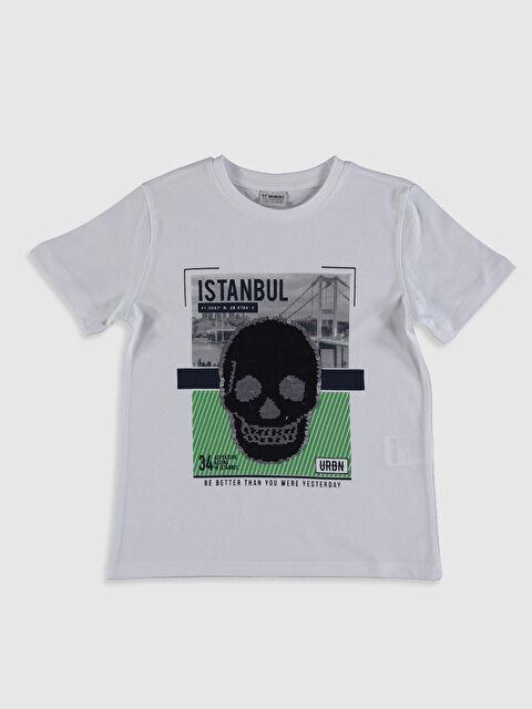 Erkek Çocuk İstanbul Baskılı Payetli Tişört - LC WAIKIKI