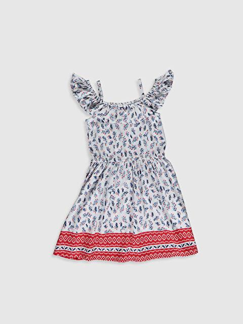 Kız Çocuk Omuzu Açık Desenli Elbise - LC WAIKIKI