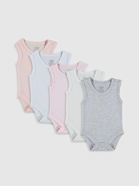 Luggi Baby Kız Bebek Çıtçıtlı Body 5'li - Markalar