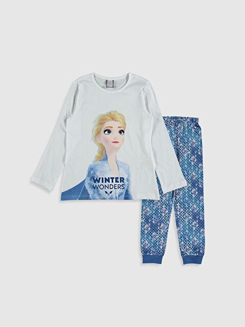 Kız Çocuk Elsa Baskılı Pijama Takımı - LC WAIKIKI