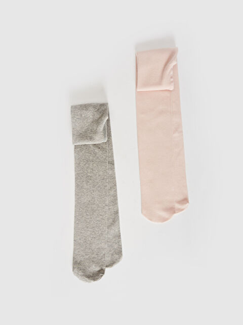 Kız Çocuk Külotlu Çorap 2'li - LC WAIKIKI