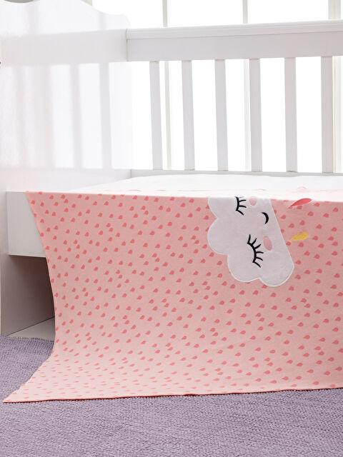 Kız Bebek Nakış Detaylı Triko Battaniye - LCW HOME