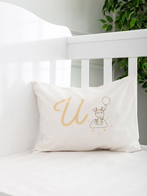 U Harfi Baskılı Bebek Yastık Kılıfı - LCW HOME