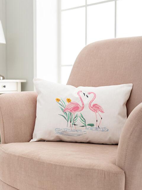 Flamingo Nakışlı Kırlent Kılıfı - LCW HOME