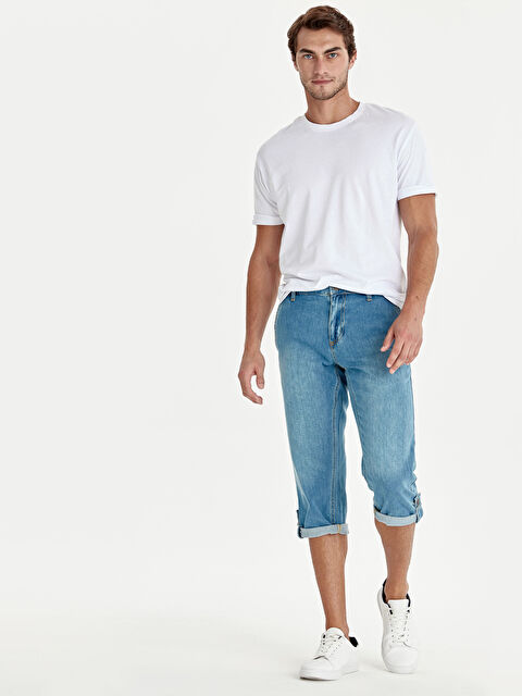 Regular Fit Jean Roller Şort - LC WAIKIKI