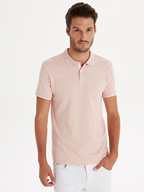 Slim Fit Polo Yaka Pike Tişört - LC WAIKIKI