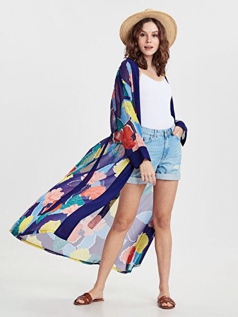 Çiçek Desenli Uzun Kimono - LC WAIKIKI