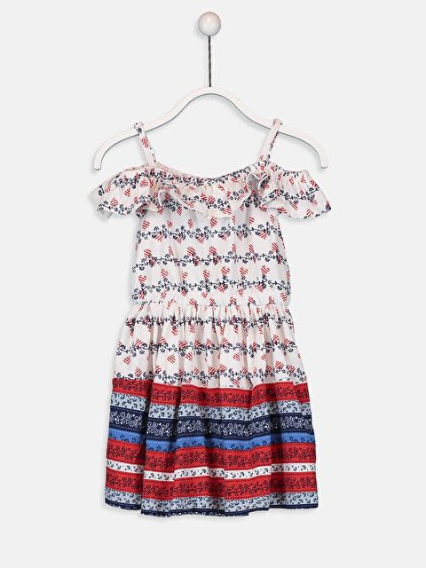 Kız Çocuk Omuzu Açık Pamuklu Elbise - LC WAIKIKI
