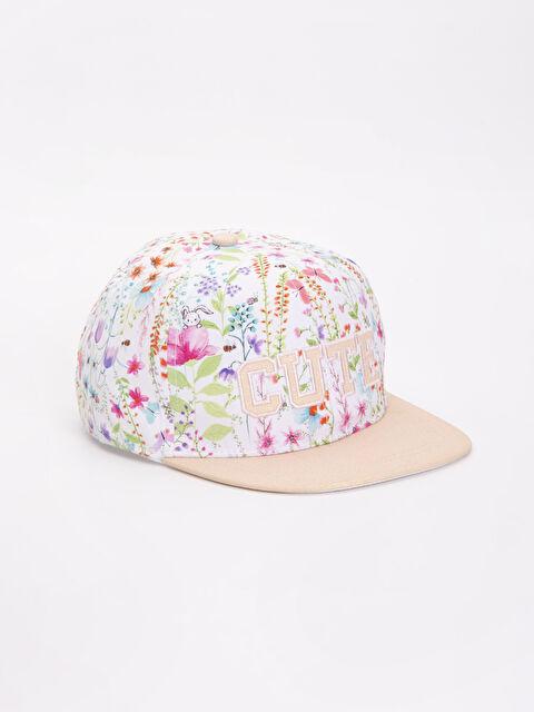 Kız Çocuk Desenli Hip Hop Şapkası - LC WAIKIKI