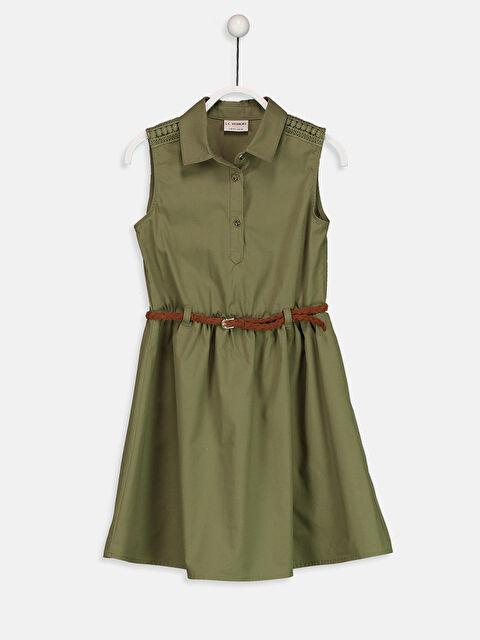 Kız Çocuk Gabardin Elbise ve Kemer - LC WAIKIKI