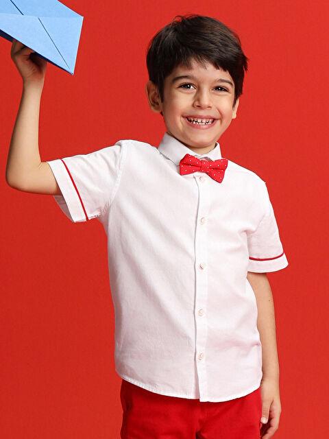 23 Nisan Erkek Çocuk Beyaz Gömlek ve Papyon - LC WAIKIKI