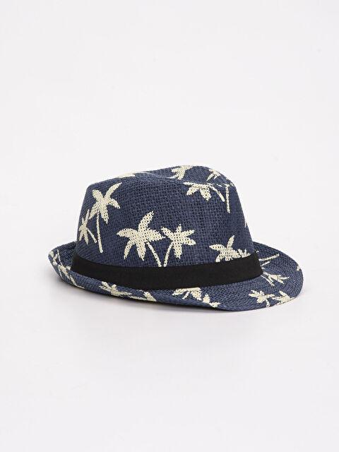 Erkek Çocuk Desenli Hasır Şapka - LC WAIKIKI