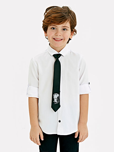 Erkek Çocuk Oxford Gömlek ve Kravat - LC WAIKIKI