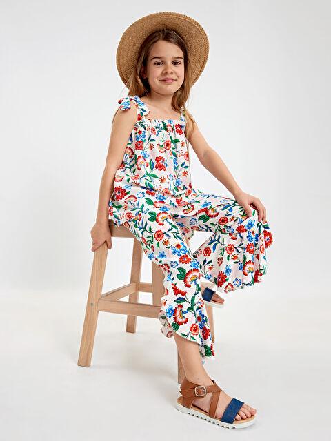 Kız Çocuk Çiçekli Viskon Bluz - LC WAIKIKI