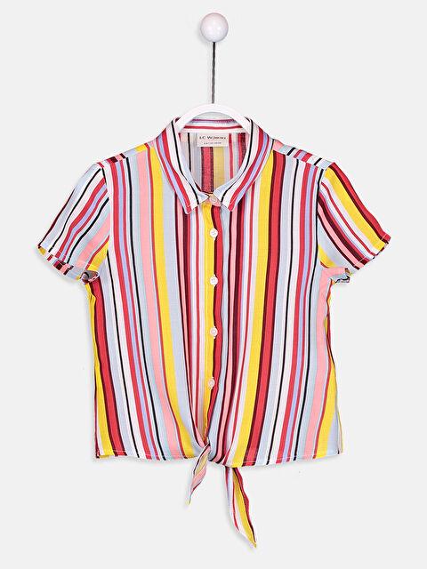 Kız Çocuk Çizgili Viskon Gömlek - LC WAIKIKI