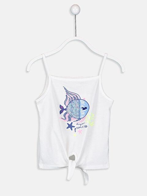 Kız Çocuk Balık Desenli Pamuklu Atlet - LC WAIKIKI