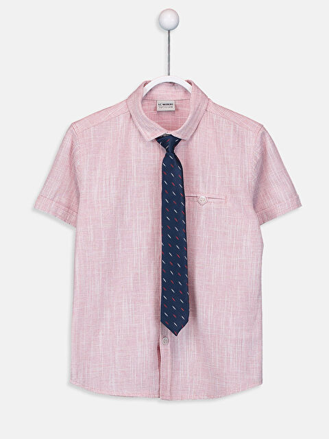 Erkek Çocuk Poplin Gömlek ve Kravat - LC WAIKIKI