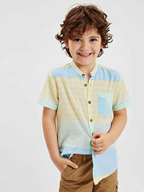 Erkek Çocuk Çizgili Poplin Gömlek - LC WAIKIKI