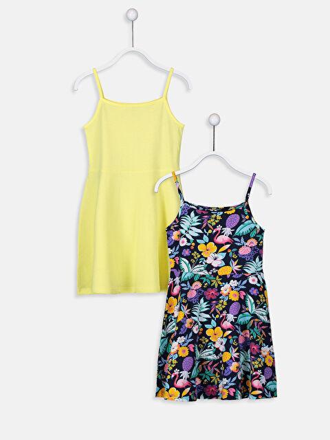 Kız Çocuk Pamuklu Elbise 2'li - LC WAIKIKI