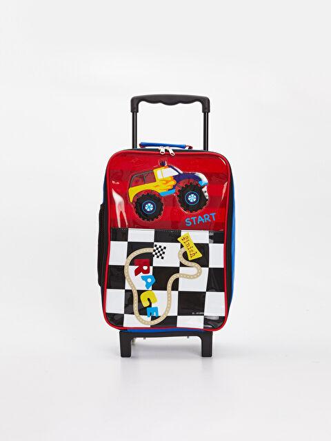 Erkek Çocuk Araba Baskılı Çekçekli Çanta - LC WAIKIKI