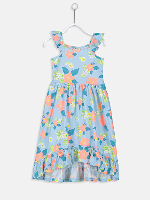Kız Çocuk Çiçekli Pamuklu Elbise - LC WAIKIKI